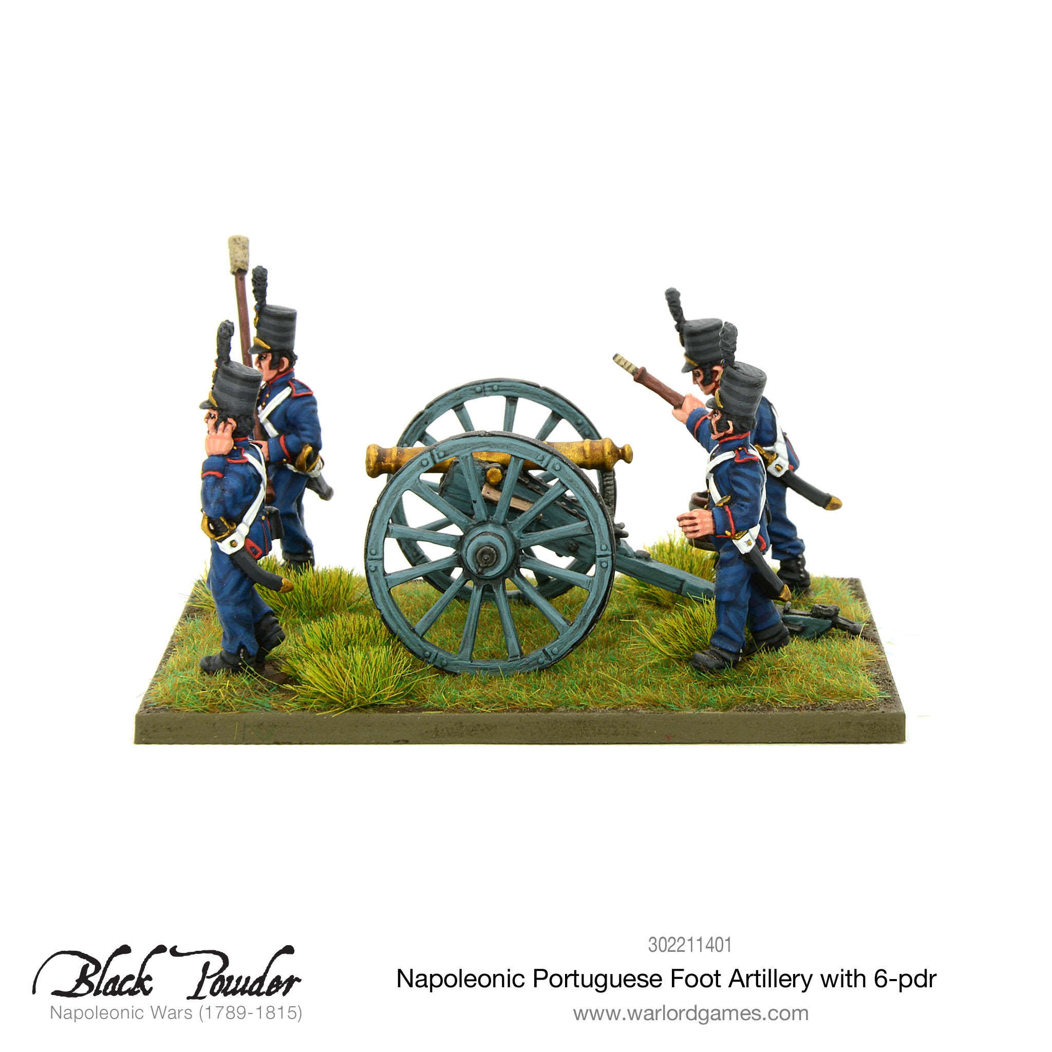 Portuguese foot artillery with 6-pdr