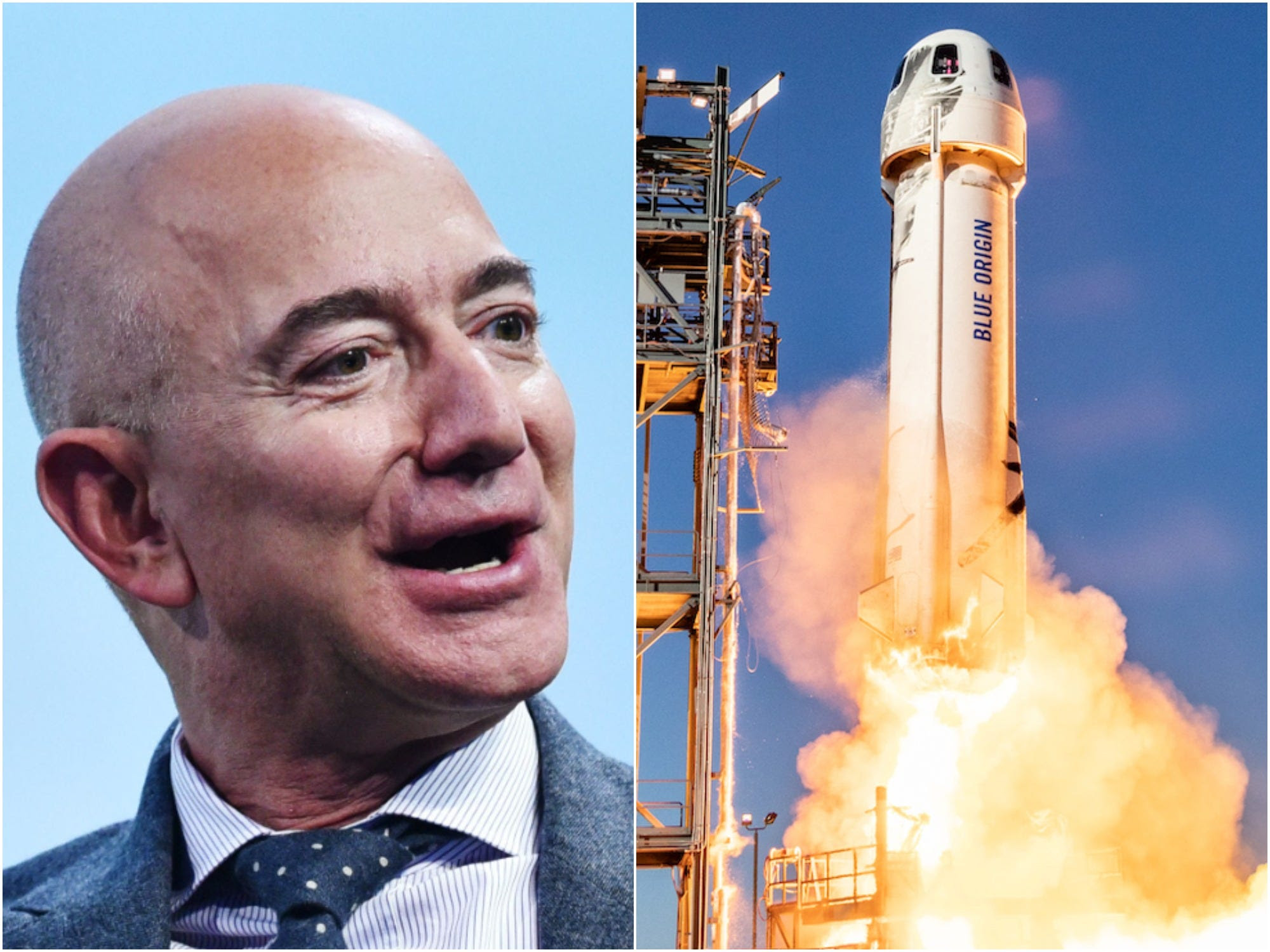 More than 56,000 people don't want Jeff Bezos to return from space next month