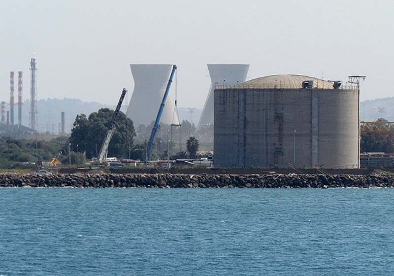 The ammonia tank in Haifa.