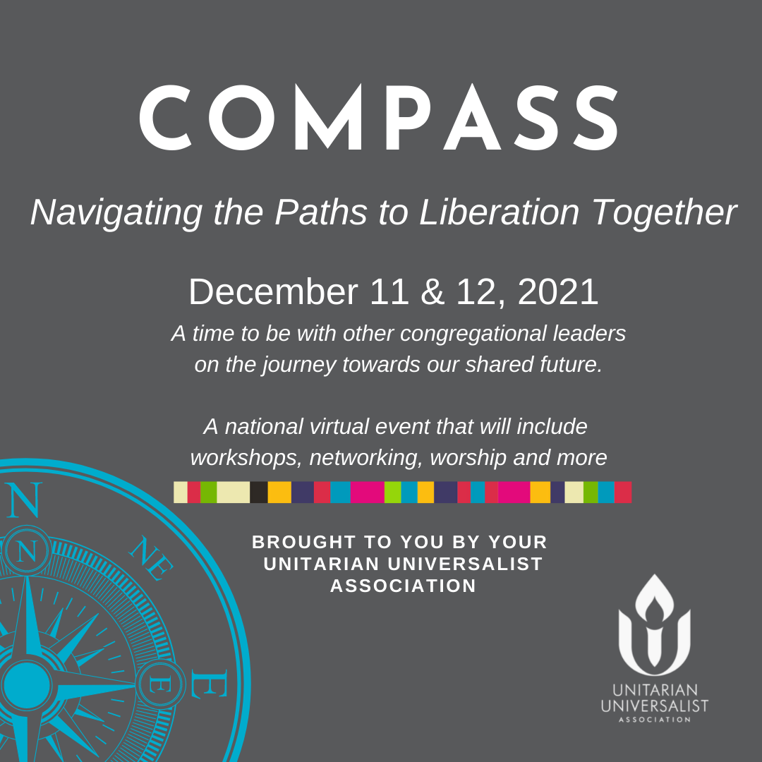 infographic -image of compass with information about the event