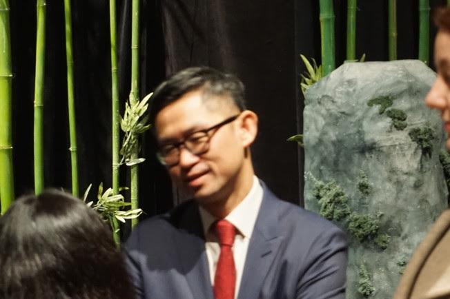 亞美博物館策展人及展覽部主任譚海俊。(記者王若馨/攝影)