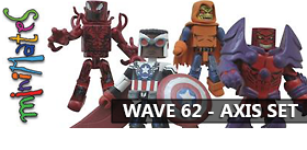 MARVEL MINIMATES WAVE 62 AXIS SET OF 8