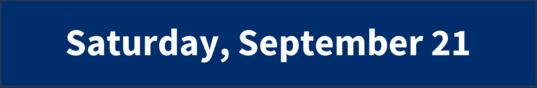 Saturday, September 21