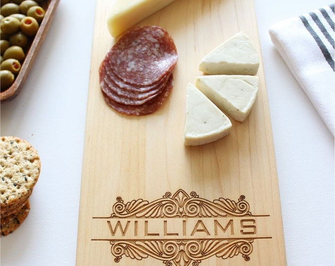 Cheese Board, Personalized Cutting Board, Custom Name, Wedding Gift, Anniversary, Personalized Womens, For Her, Husband Gift, Fathers Day
