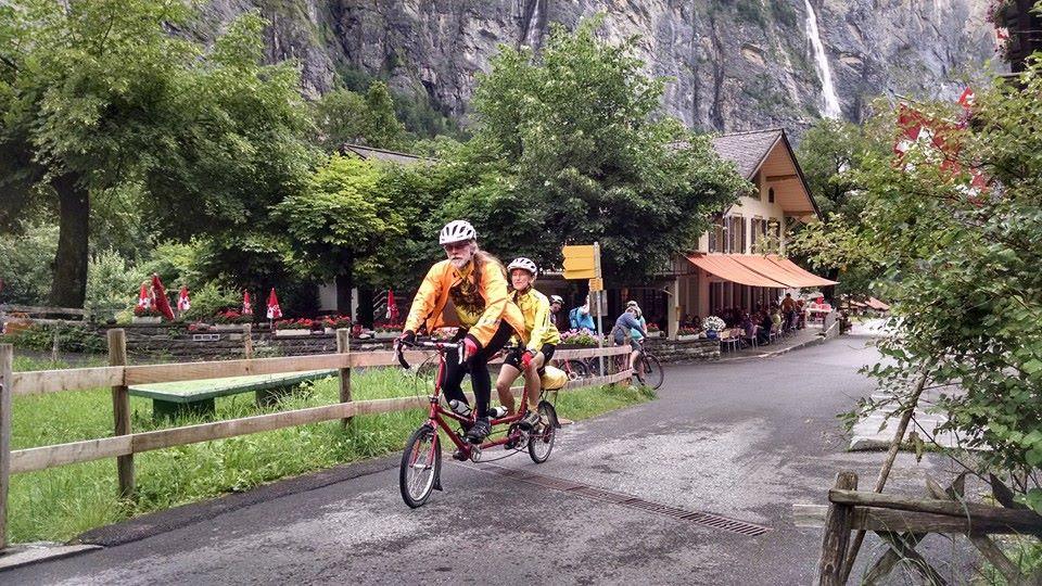Bike Friday tandem in Lauterbrunnen