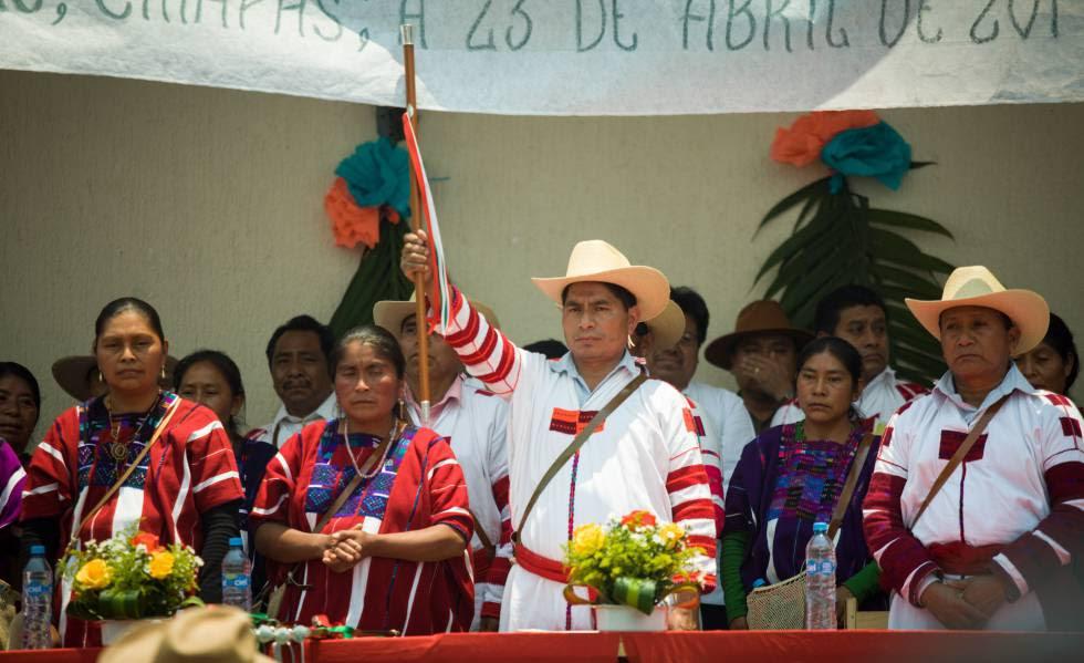 Un acto en el municipio de Oxchuc, en el Estado mexicano de Chiapas.
