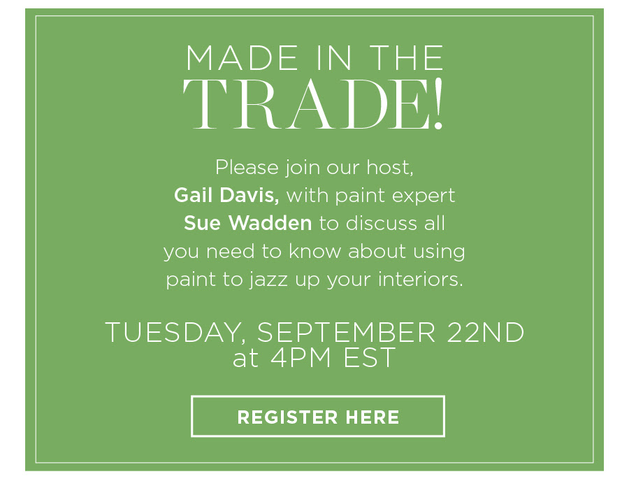 Schumacher: Made in the Trade! with Sue Wadden