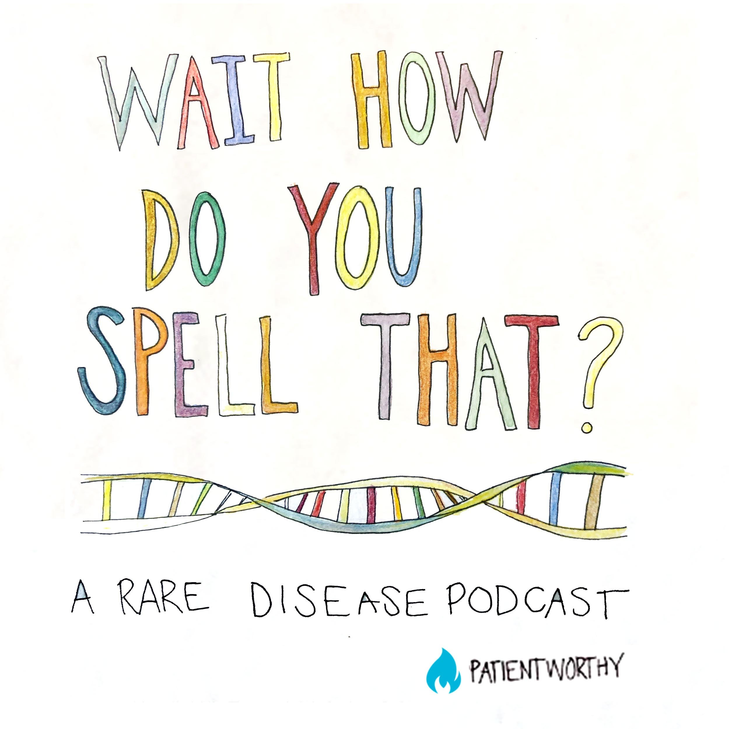 A comic like DNA illustration and the words: Wait, how do you spell that?