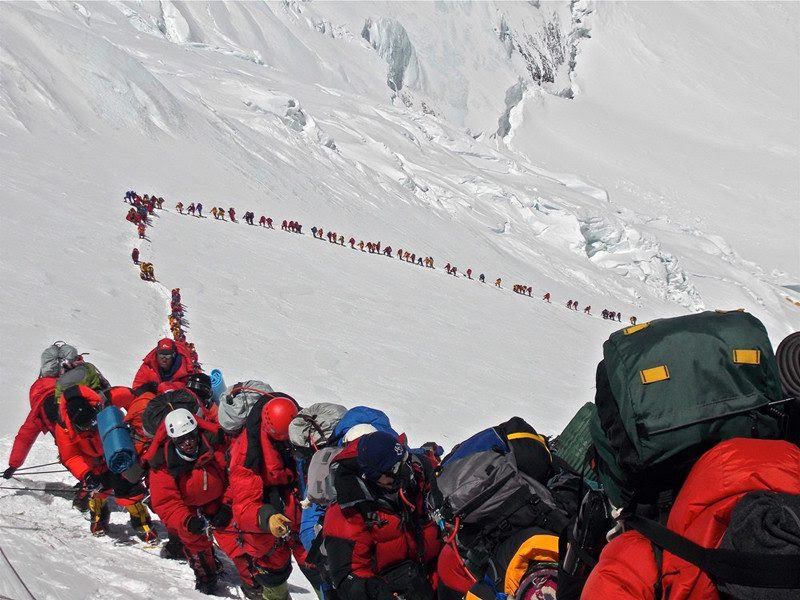 Mount Everest<br>                                                          climbers