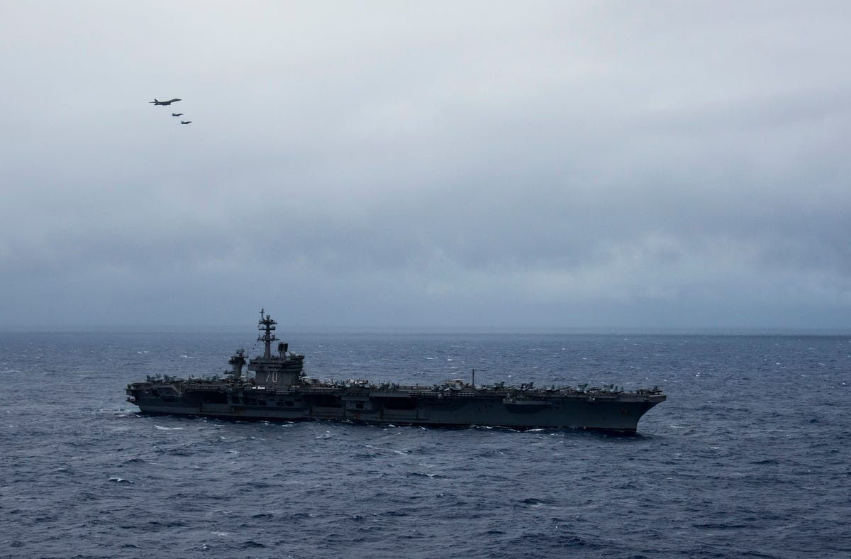 For the US, checking Beijing in the Pacific often means sailing carrier strike groups through the region — something the Navy has done for decades, whether China protests or not.