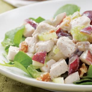 Low-fat Waldorf Chicken Salad with Michigan Apples