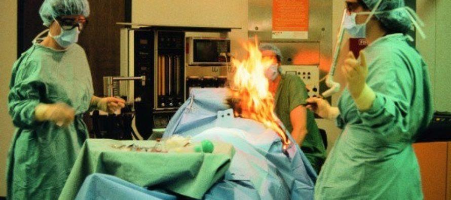 Bệnh nhân… xì hơi gây hỏa hoạn trong khi đang phẫu thuật