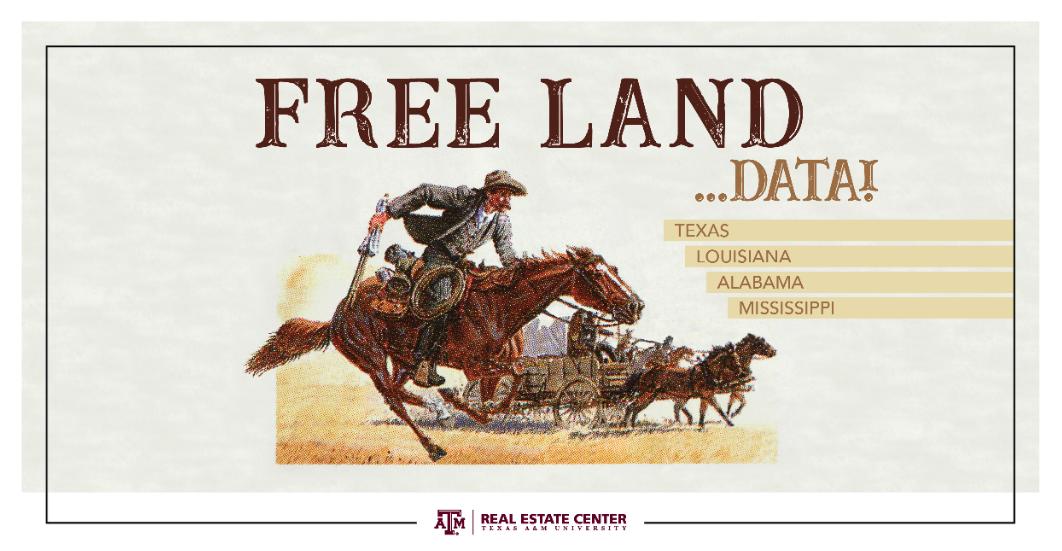 Free land data ad