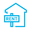 House for Rent Blue Icon