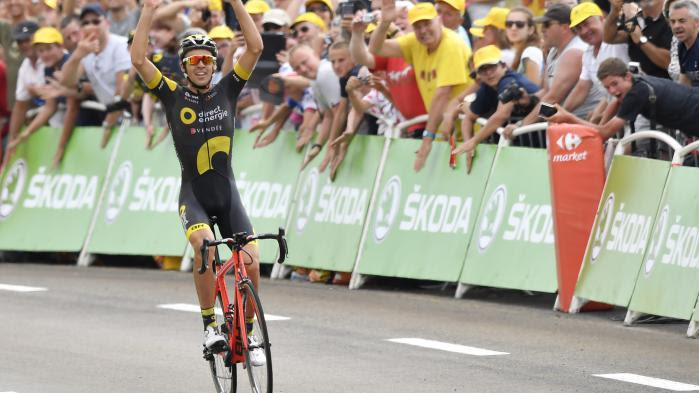 VIDEO. Tour de France : Lilian Calmejane remporte la 8e étape en solitaire aux Rousses