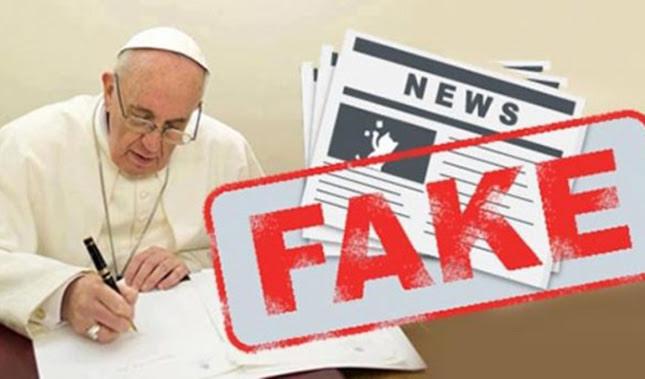 Resultado de imagen para papa francisco fake news