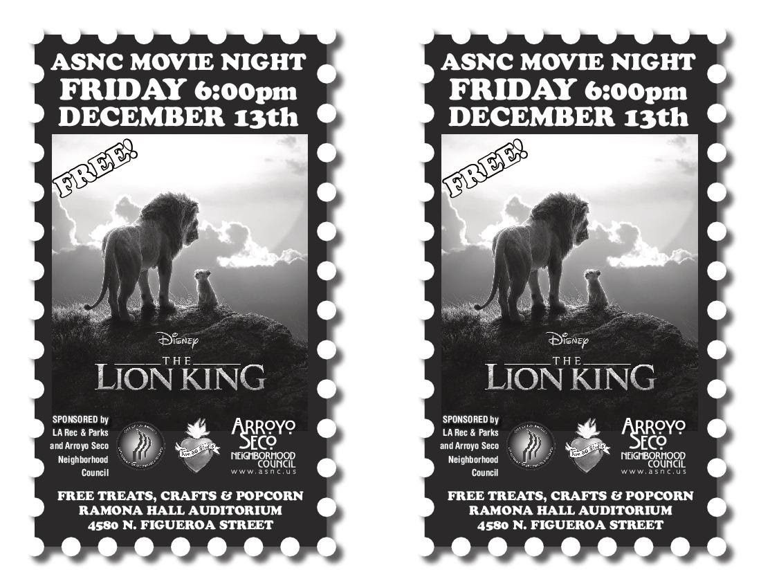 Lion King Movie Night 12-13-19