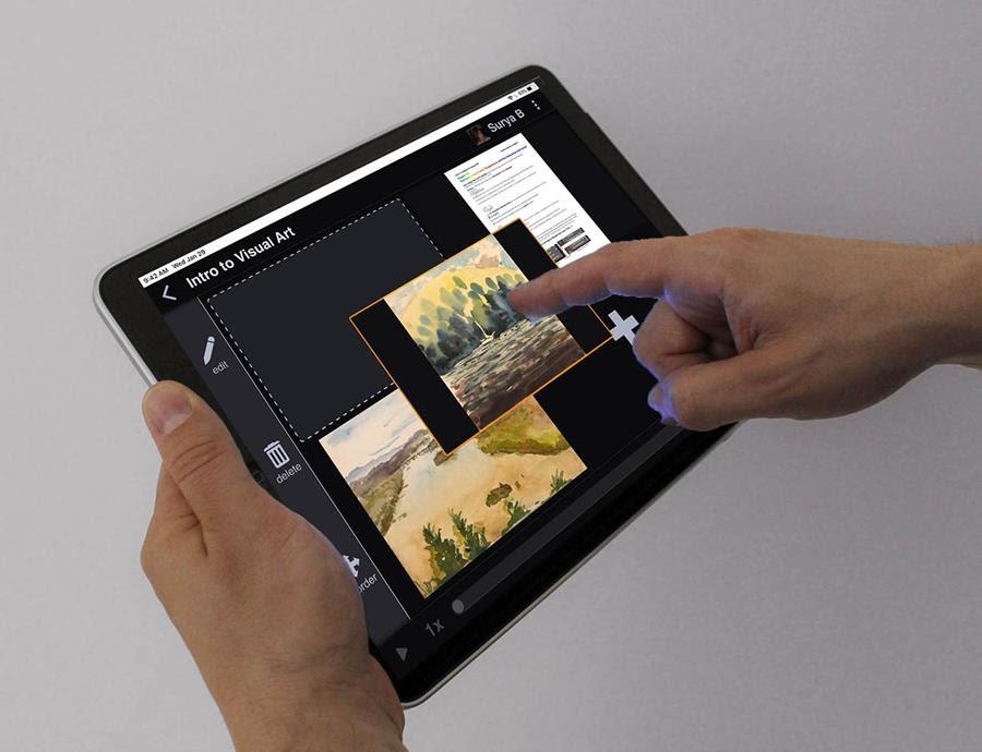 VoiceThread on an tablet computer