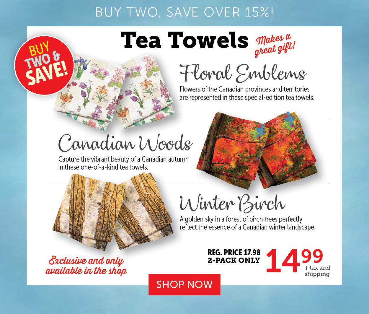 Tea Towels - Buy two - Save over 15%