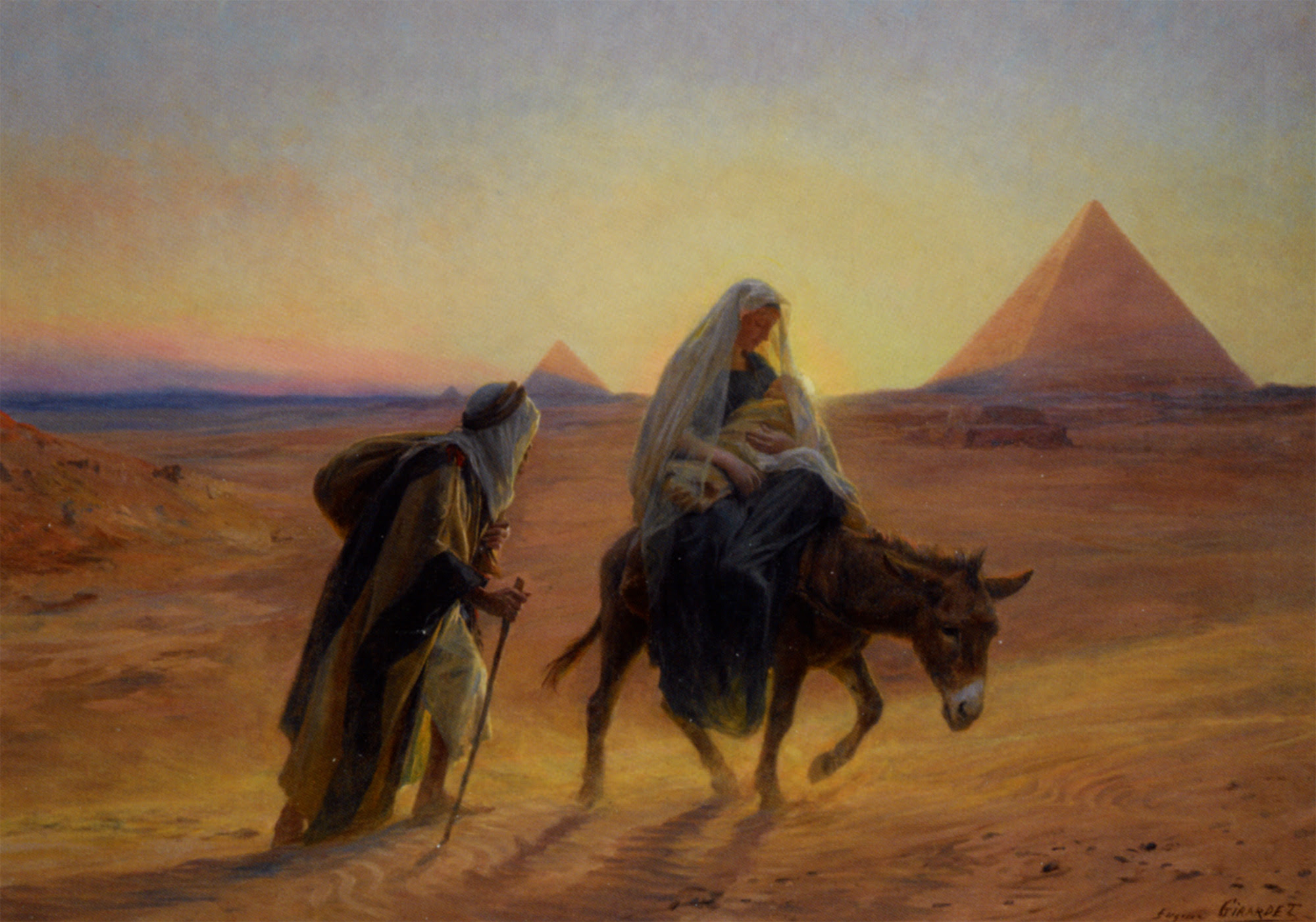 Image result for flight to egypt mary and joseph/Images