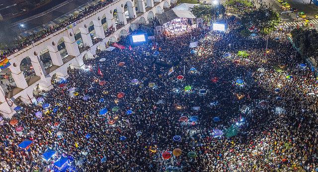 Cerca de 70 mil personas se reunieron en Rio de Janeiro el último martes (23) para defender la democracia en vísperas de las elecciones - Créditos: Ricardo Stuckert