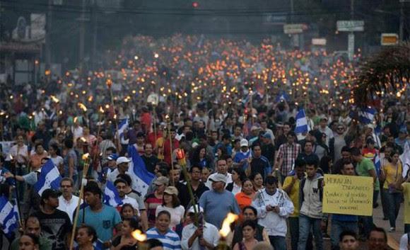Manifestaciones de los últimos días en Honduras. Foto: Twitter