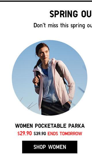 WOMEN POCKETABLE PARKA - SHOP NOW
