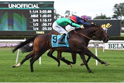 Spanish Mission wins the Jockey Club Derby Invitational at Belmont Park