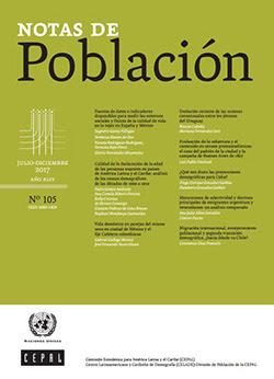 Notas de Población N° 105