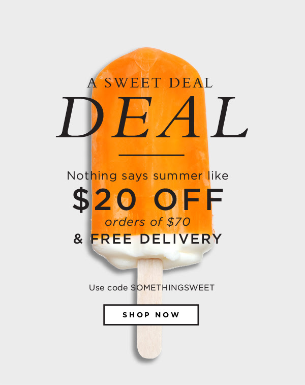 $20 off orders of $70 + Free Delivery | code SOMETHINGSWEET