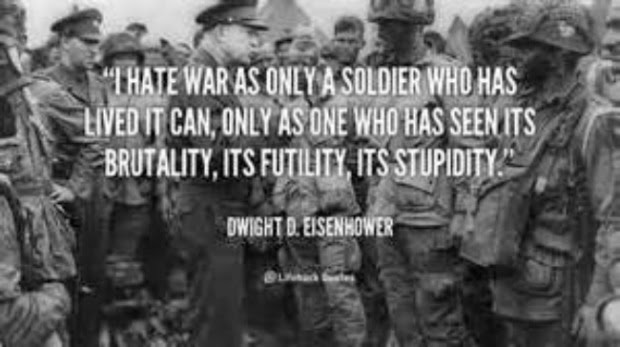 Ike hates war