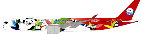 Airbus A350-900 Sichuan Airlines, 'Panda Route Livery' (with stand) | is due: June 2019