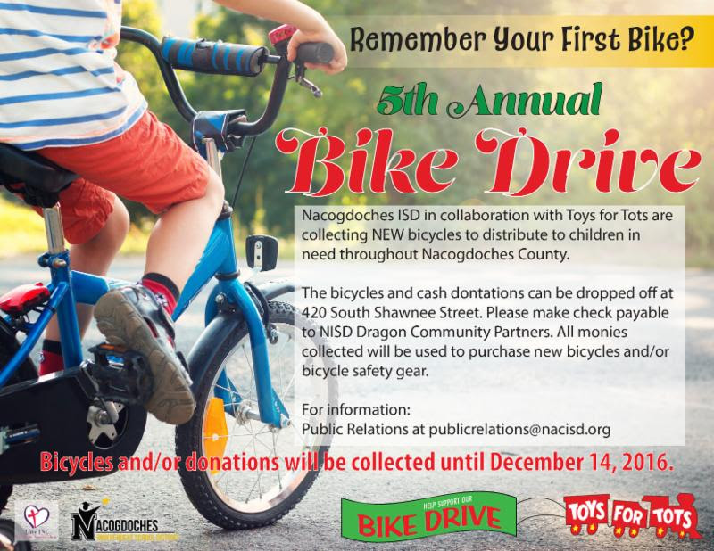 Bikes Toys For Tots Or Bust : Nisd th annual bike and toy drive nacogdoches county