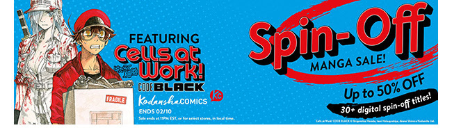 Kodansha Spin-Offs Sale: up to 50% off! | Ends 2/10