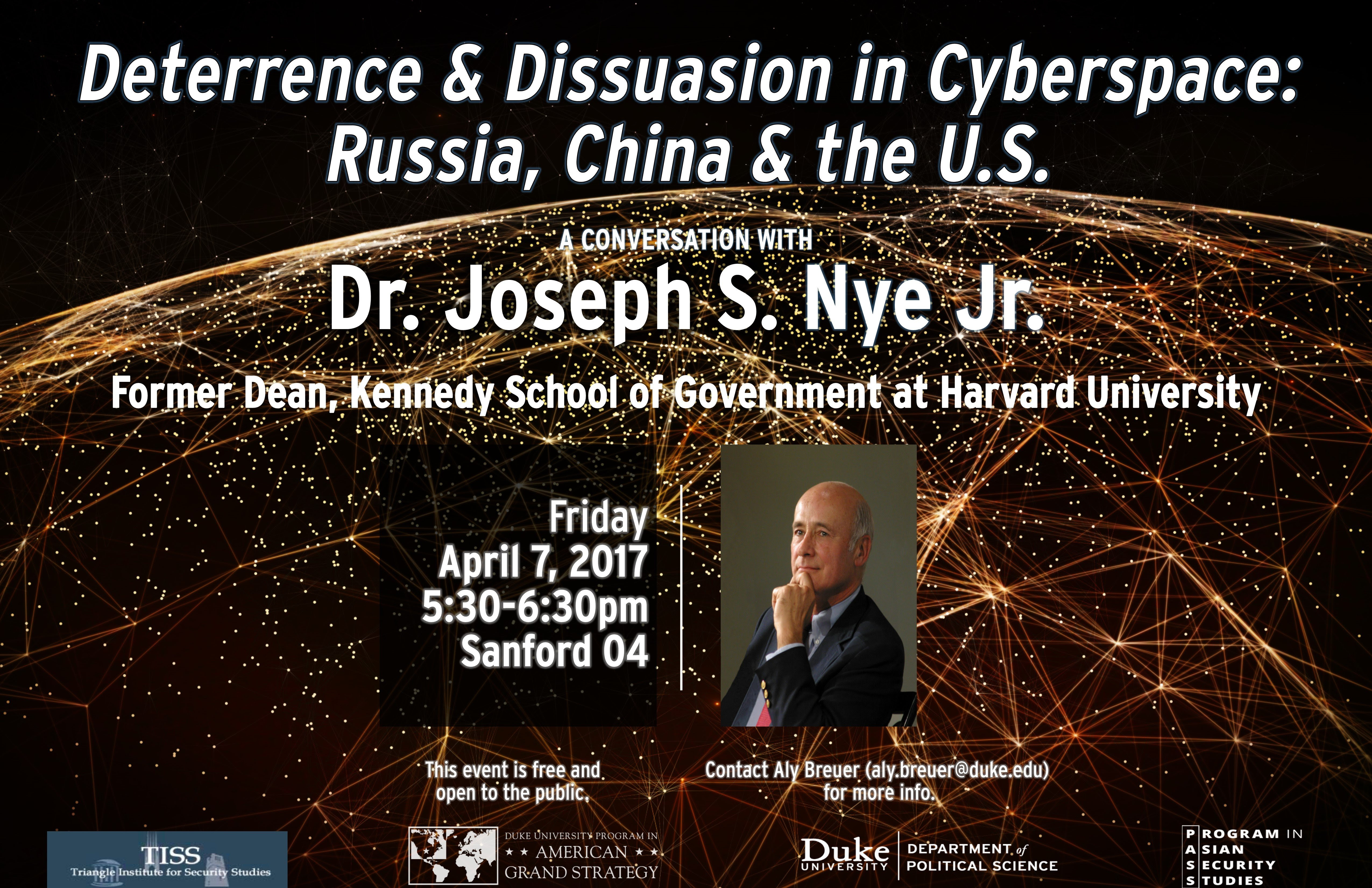 Deterrence & Dissuasion in Cyberspace: Russia, China & the U.S. @ Sanford 04, Sanford School of Public Policy | Durham | North Carolina | United States