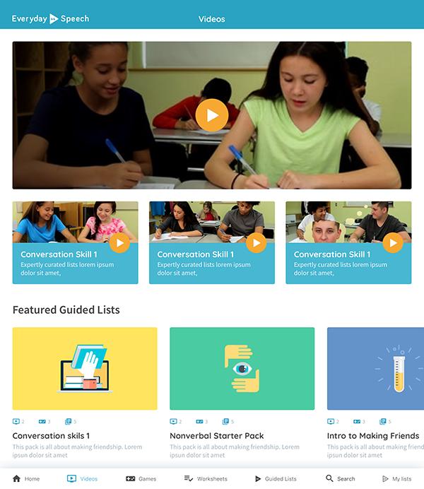 Social Learning Platform Screenshot