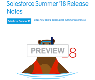 Summer 18 Release notes