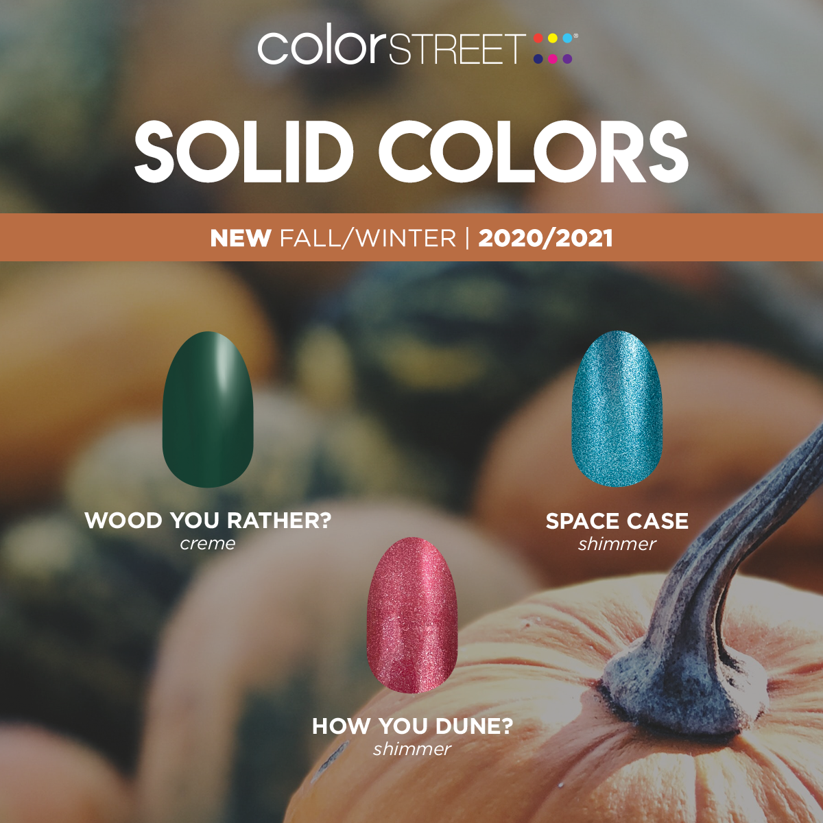Color Street's Fall/Winter 2020 Solid Colors