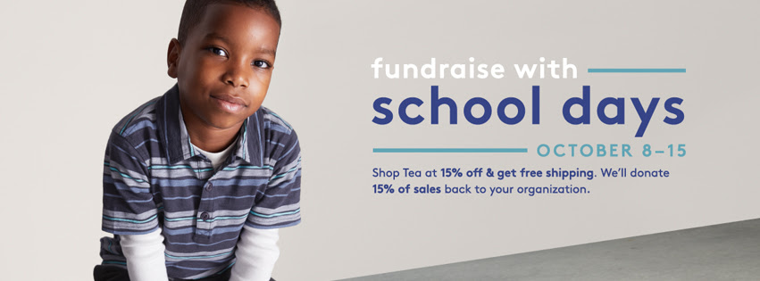 Fundraise with School Days October 8-15: Shop Tea @ 15% Off & Get Free Shipping!