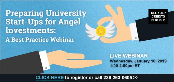 Preparing University Start-Ups for Angel Investments: A Best Practice Webinar