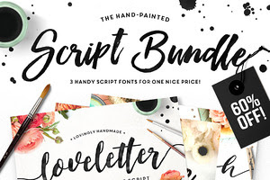The Brush Script Bundle • 60% OFF