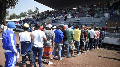 Migrantes hondureños rumbo a EE.UU. en la Ciudad de México. 7 de noviembre de 2018.