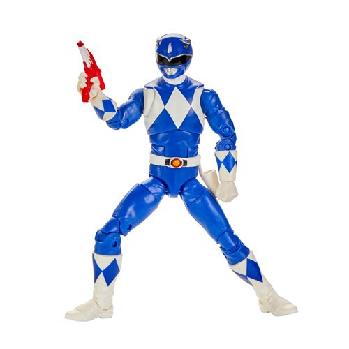 Image of Power Rangers Lightning Collection Wave 5 - Mighty Morphin Blue Ranger 6-Inch Action Figure - JUNE 2020