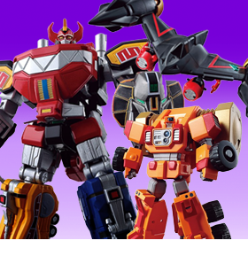 POWER RANGERS & GAOGAIGAR MINI-PLA