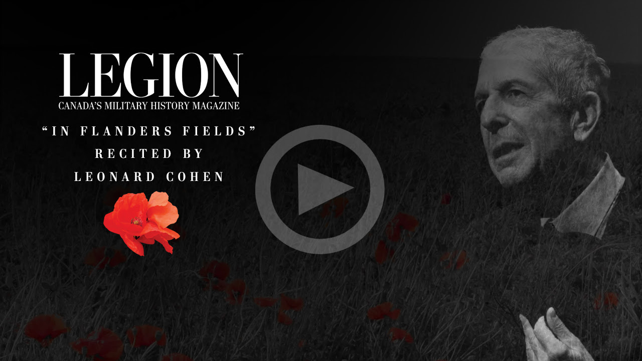 Leonard Cohen recites In Flanders Fields