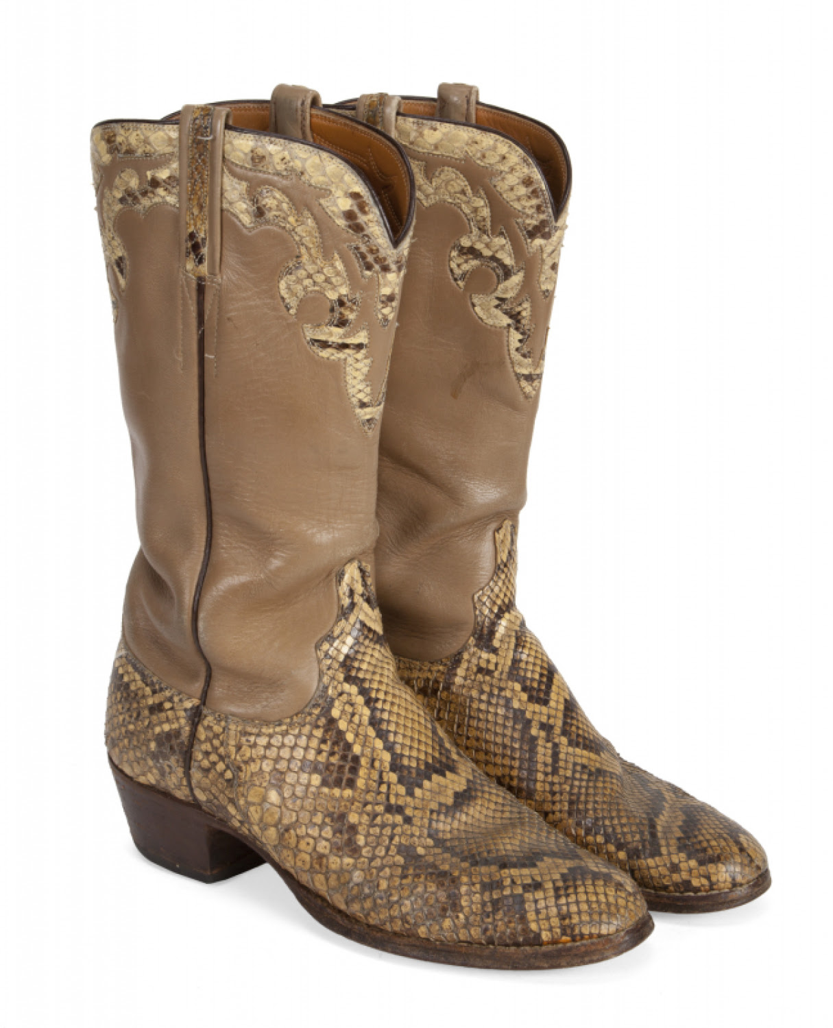 RONNIE JAMES DIO SNAKESKIN LUCCHESE BOOTS