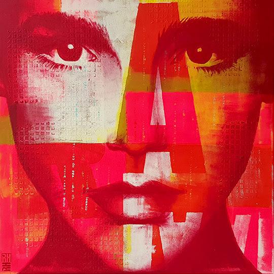 Cubistic - Pop Art Girl por Ronald Hunter