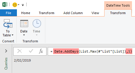 step 4 add a day to MaxDate