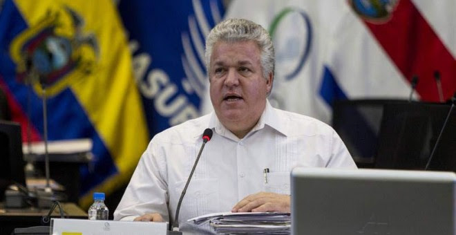 El vicecanciller ecuatoriano, Leonardo Arízaga, cuyo país ejerce actualmente la presidencia protémpore de la Celac. / JOSÉ JÁCOME (EFE)