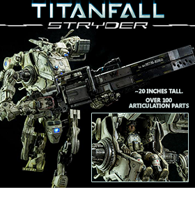 TITANFALL IMC STRYDER WITH PILOT FIGURE